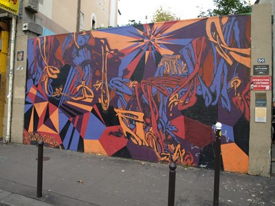 photo graffiti Paris 10eme arrondissement
